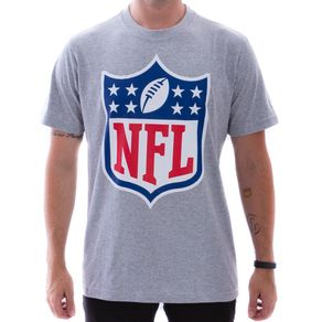 Camiseta-New-Era-NFL-Shield-Cinza