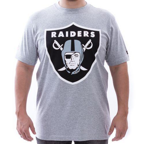 Camiseta New Era Oakland Raiders NFL Cinza 3e4ca1d0adf