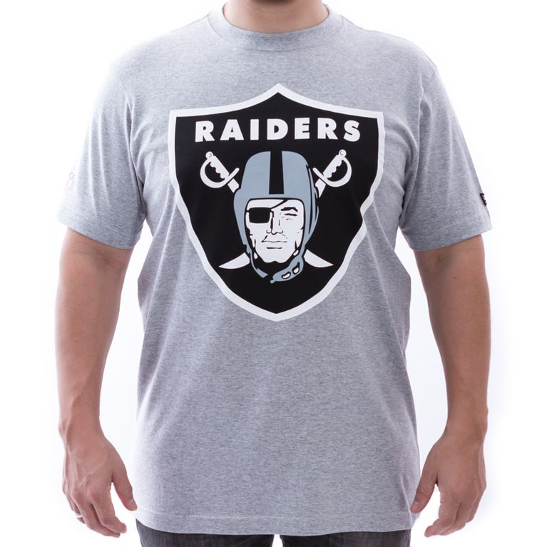ce2d11514a Camiseta New Era Oakland Raiders NFL Cinza - galleryrock