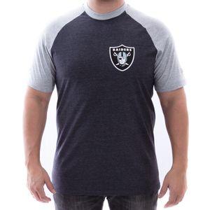 Camiseta-New-Era-Blazon-Oakra-Mescla-Negro