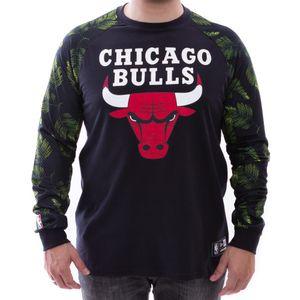 Camiseta-New-Era-Manga-Longa-Folhagem-Chicago-Bulls-Preto
