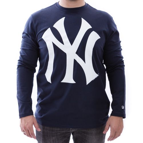Camiseta-New-Era-New-York-Yankees-MLB-Manga-Longa-Marinho