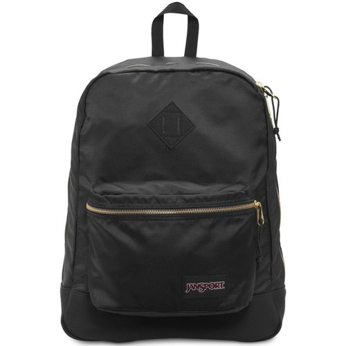 MOCHILA-JANSPORT-SUPER-FX-BLACK-GOLD-PRETO-DOURADO