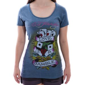baby-look-ed-hardy-love-is-a-gamble-cinza-feminina