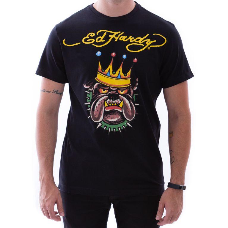 02deded84 Camiseta Ed Hardy Bulldog Preta Masculino - galleryrock