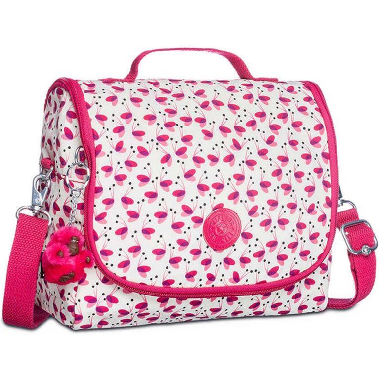 4233a0c2a Lancheira Kipling New Kichirou Branca Rosa Pink Wings - galleryrock