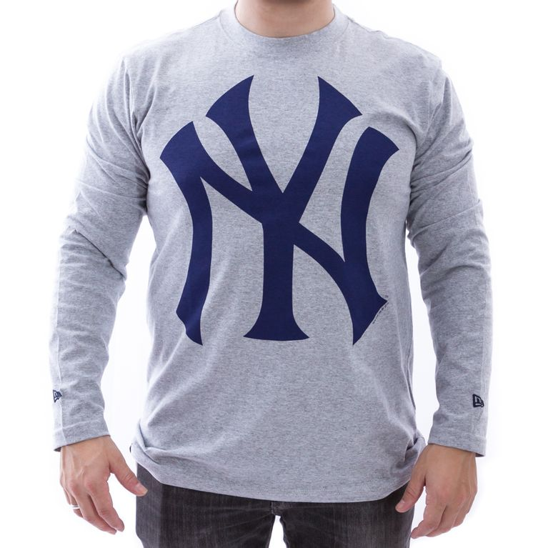 Camiseta New Era Manga Longa New York Yankees Mescla Claro - galleryrock 3f84437c2e6