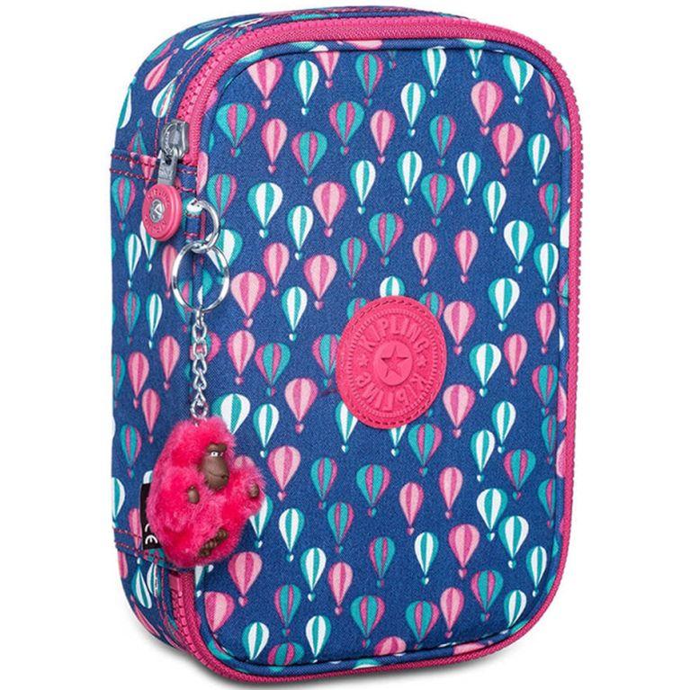 5fe3d44ff Estojo Kipling 100 Pens Azul Rosa Balloon PR - galleryrock