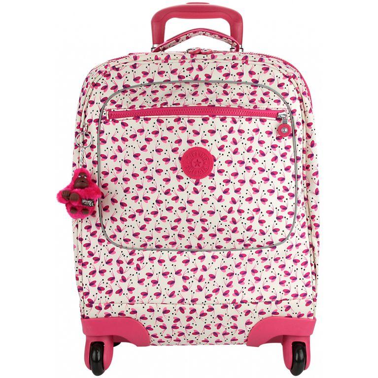 350470171 Mala Kipling Rodinhas Licia Branco Rosa Pink Wings - galleryrock