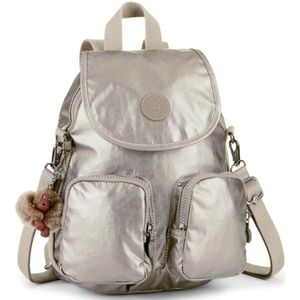 MOCHILA-KIPLING-FIREFLY-UP-DOURADA-METALLIC-PEWTER