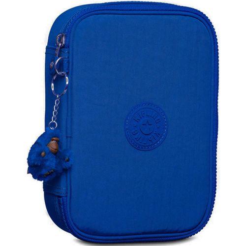 Estojo-Kipling-100-Pens-Azul-Poseidon-Blue