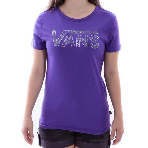 Camiseta-Vans-Classic-Fill-Roxa