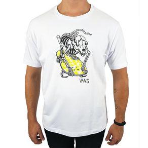Camiseta-Vans-Esqueleto-Cachorro-Branca