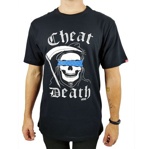 Camiseta-Vans-Cheat-Death-Black-Preta
