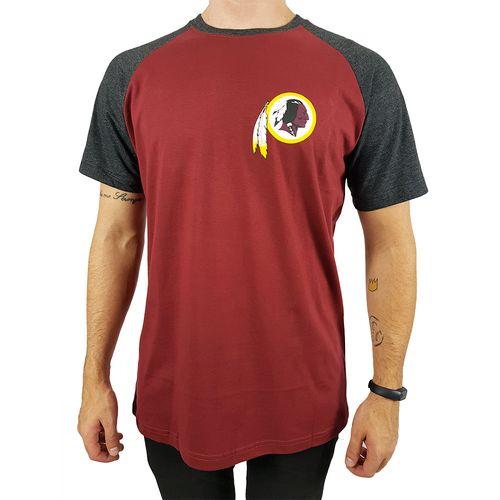 Camiseta-New-Era-Blazon-Washington-Redskins-Vermelho-Escuro-Mescla-