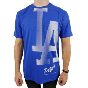 Camiseta-New-Era-Reticula-3-Los-Angeles-Dodgers-Azul