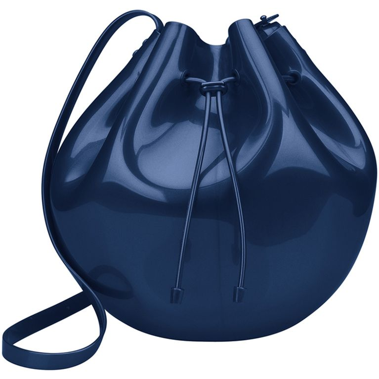 1c5be5598 Bolsa Melissa Sac Bag Azul Titanium Metalico - galleryrock