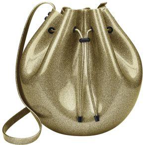 Bolsa-Melissa-Sac-Bag-Vidro-Glitter-Ouro