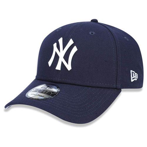Bone-New-Era-940-Core-Metal-White-New-York-Yankees-Marinho-Snapback