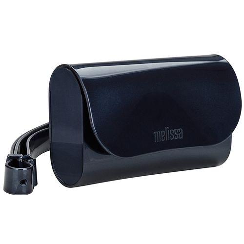 Pochete-Melissa-Cute-Bag-Vidro-Azul-Titanium-Metalico