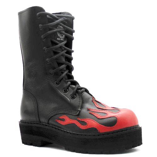 Coturno-Ref-065-Cano-Medio-Vermelho-Fogo-Flame-L9-