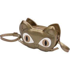 BOLSA-MELISSA-MINI-BAG-CAT-GATO-DOURADO