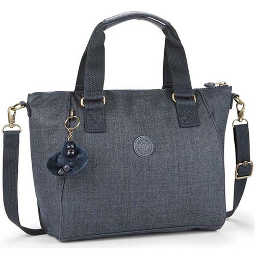 BOLSA-KIPLING-MAO-AMIEL-AZUL-COTTON-TRUE-BLUE