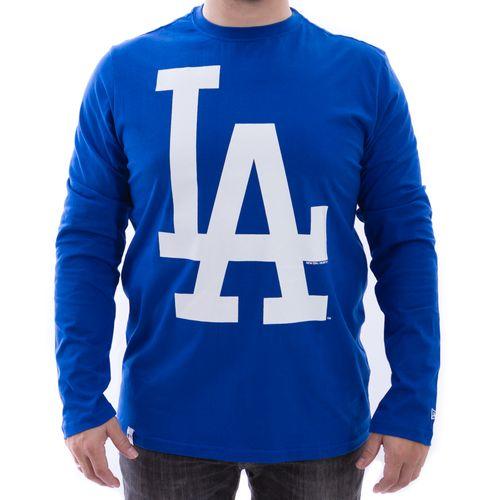 Camiseta-New-Era-Manga-Longa-M-L-Losdod-LA-Azul-