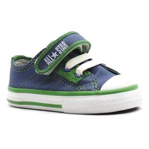 Tenis-All-Star-Specialty-Strap-Ox-Azul-Verde-Infantil-L10