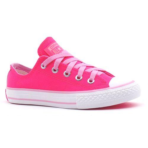Tenis-All-Star-Ox-Pink-Fluor-Rosa-Infantil-Juvenil-L45