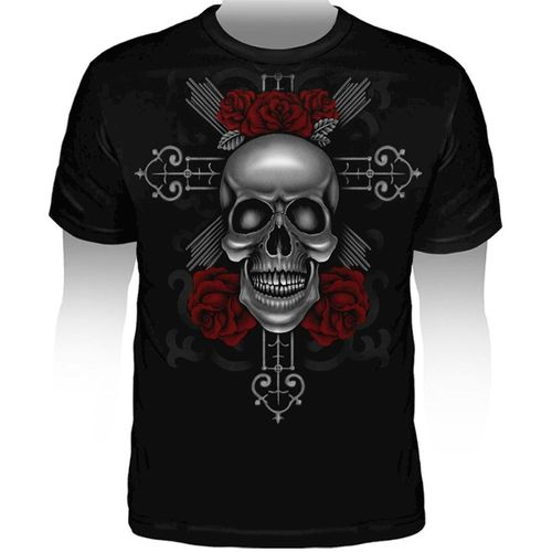 camiseta-tattoo-skull-with-cross