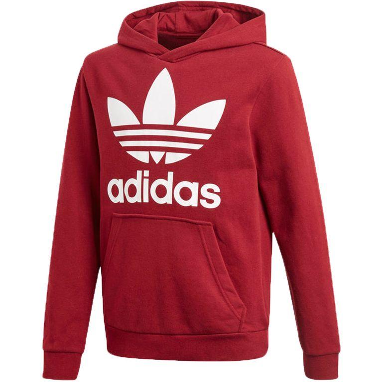 cc03c54c46704 Blusa Adidas Trefoil Hoodie Vinho Juvenil - galleryrock