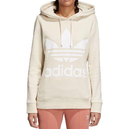Blusa-Adidas-Capuz-Trefoil-Hoodie-Bege