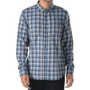 Camisa-Vans-Alameda-II-Asphalt-Copen-Blue-Xadrez