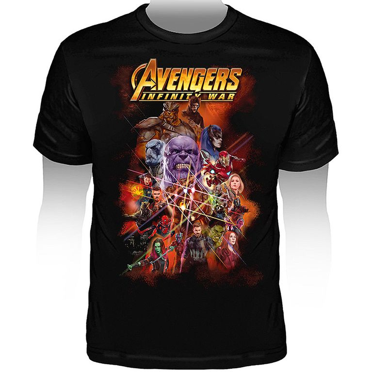 Camiseta Marvel Avengers Infinity War Personagens - Gallery Rock ... ef07cbd34fa6c