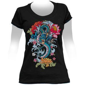 Camiseta-Feminina-Dragon-Tattoo