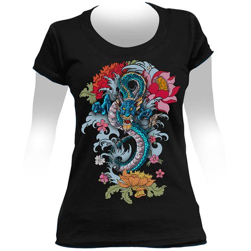 Camiseta-Feminina-Dragon-Tattoo
