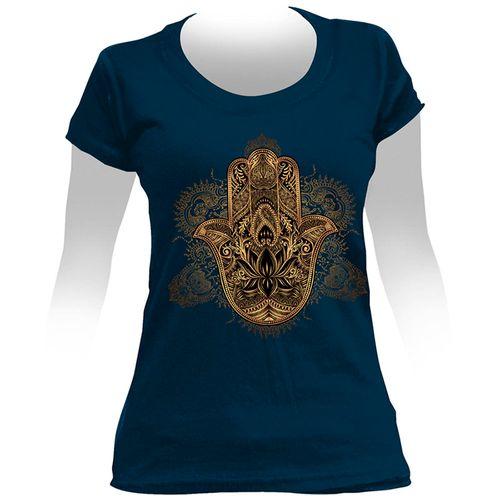 Camiseta-Feminina-Hamsa