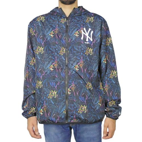 Jaqueta-New-Era-Windbreak-Dark-Floral-New-York-Yankees