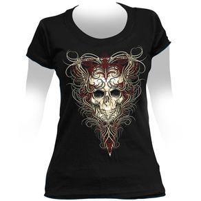 camiseta-feminina-skull-wings