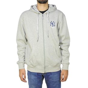 Moletom-New-Era-10-Aberto-New-York-Yankees-Mescla-