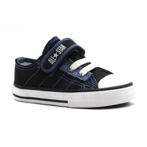 Tenis-All-Star-Specialty-Strap-Preto-Azul-Infantil-L11-