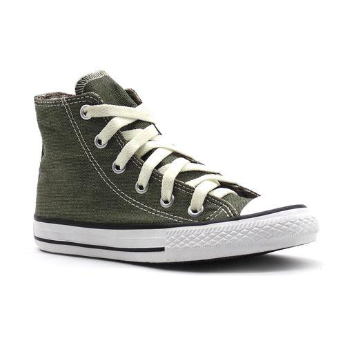 Tenis-All-Star-Specialty-Textile-Hi-Verde-Infantil-L14-