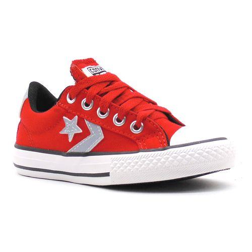 Tenis-All-Star-Player-Ox-Vermelho-Cinza-Infantil-Juvenil-L46B-