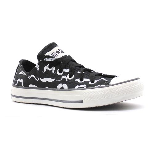 Tenis-All-Star-Print-Mustaches-Ox-Preto-L11A-