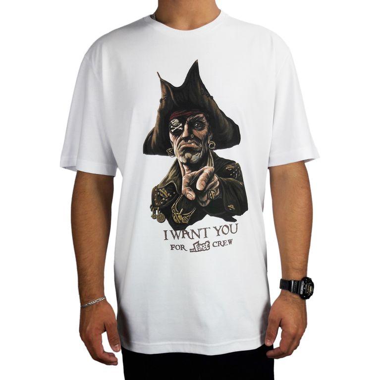 Camiseta Lost Basica Crew Pirate Branco - galleryrock ff1421e5926