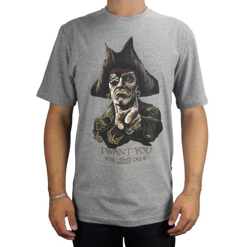Camiseta-Lost-Basica-Crew-Pirate-Cinza