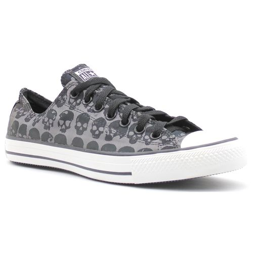 Tenis-All-Star-Skulls-Ox-Preto-Cinza-L12B-
