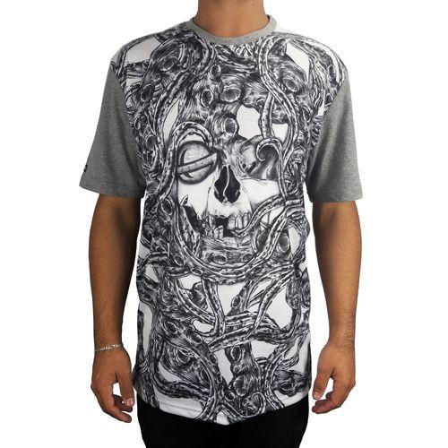 Camiseta-Lost-Skull-Cinza