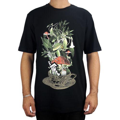 Camiseta-Lost-Basica-Cup-of-Flowers-Preto